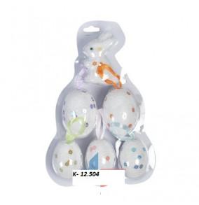 K-12.504 Veľkonočné vajíčka so zajačikom/6ks