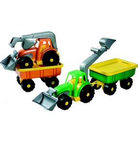 Traktor do piesku s vlečkou