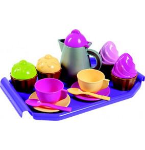 K-2713 Kávová súprava s kanvičkou a tortičky na podnose 2063-0000