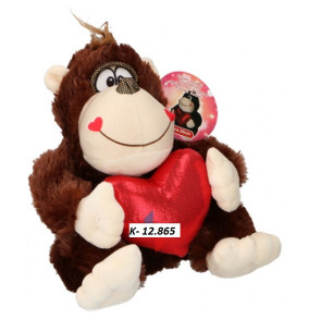 K-12.865 Plyš opica so srdiečkom- Valentín