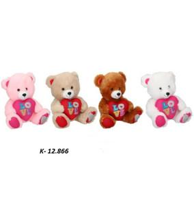 K-12.866 Plyš medveď so srdiečkom- Valentín