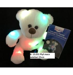 K-13.031 Plyšový medveď svietiaci 25cm