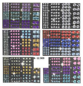 K-12.909 Samolepky diamantíky/120ks