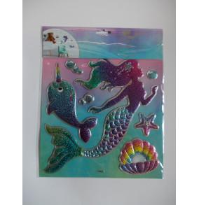 K-18.513 Samolepky na stenu- Morská panna