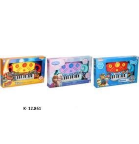 K-12.861 Klavír disney 40,5 x 24,5 cm na baterky