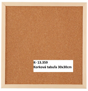 Korková tabuľa 30x30cm