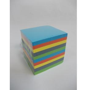 K-794 Poznámková kocka lepená farebná 9x9x9cm