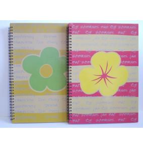 K-20.503 Záznamová kniha A4- špirála-kvet
