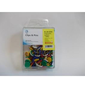 K-20.854 Pripínačky farebné/100ks