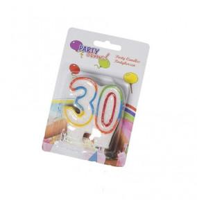 K-12.499 Narodeninová sviečka číslo-30