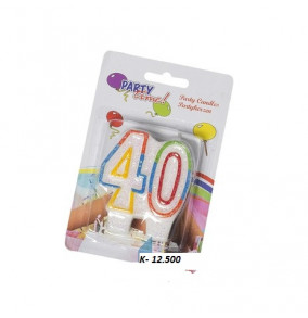 K-12.500 Párty sviečka číslo 40