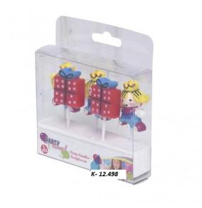 K-12.498 Párty sviečky princezné-5ks