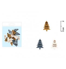 K-2012 Drevenná ozdoba 2cm/24ks-stromček